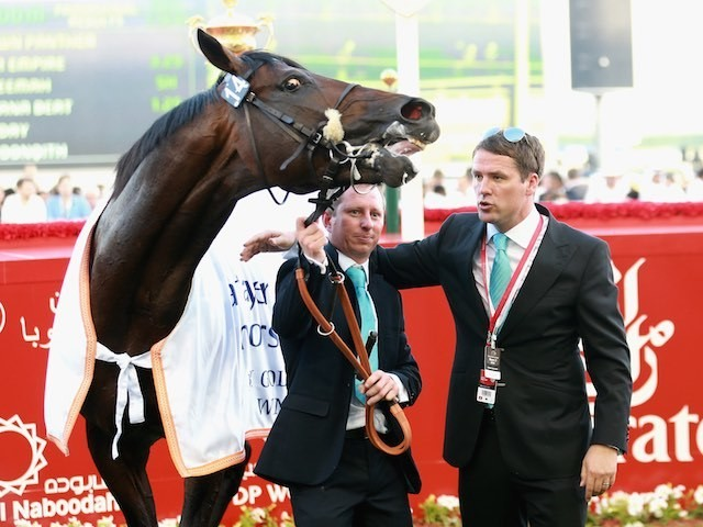 Michael Owen and Brown Panther in March 2015