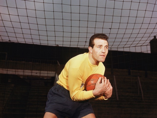 Ron Springett pictured on January 1, 1960