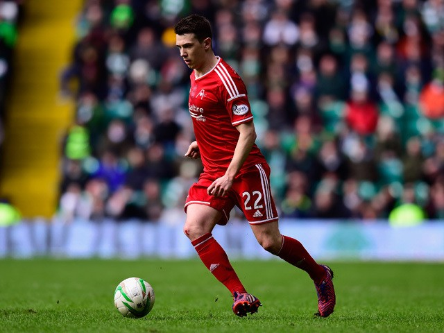 Ryan Jack of Aberdeen during the Scottish Premiership match between Celtic and Aberdeen at Celtic Park Stadium on March 1, 2015