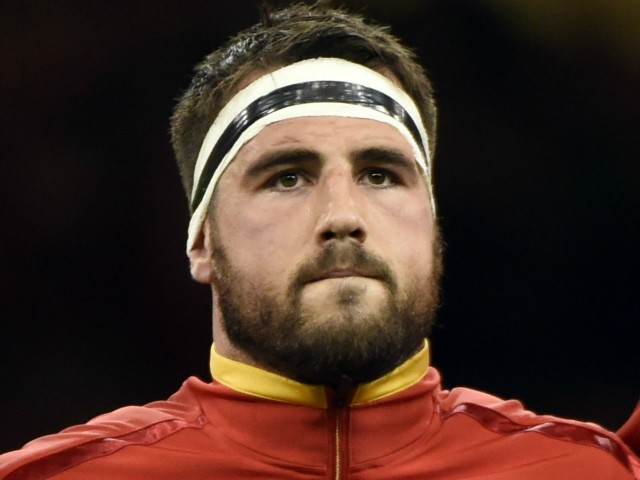 Wales' hooker Scott Baldwin poses prior to a Pool A match of the 2015 Rugby World Cup between Wales and Uruguay at the Millennium stadium in Cardiff, south Wales on September 20, 2015.