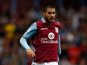 Carles Gil of Aston Villa in action during the Barclays Premier League match between Aston Villa and West Bromwich Albion at Villa Park on September 19, 2015