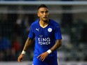 Danny Simpson of Leicester City during the Pre Season Friendlly match between Lincoln City and Leicester City at Sincil Bank Stadium on July 21, 2015