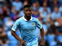 Manchester City's Nigerian striker Kelechi Iheanacho makes his debut during the English Premier League football match between Manchester City and Watford at The Etihad Stadium in Manchester, north west England on August 29, 2015