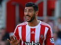 Graziano Pelle of Southampton during the Barclays Premier League match between Southampton and Manchester United at St Mary's Stadium on September 20, 2015 in Southampton, United Kingdom.