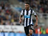 Jamaal Lascelles of Newcastle United in action during the Capital One Cup Second Round between Newcastle United and Northampton Town at St James' Park on August 25, 2015