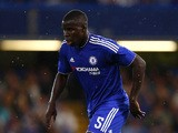 Kurt Zouma of Chelsea in action during the Pre Season Friendly match between Chelsea and Fiorentina at Stamford Bridge on August 5, 2015