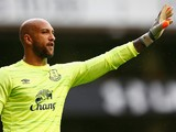 Tim Howard of Everton during the Barclays Premier League match between Tottenham Hotspur and Everton at White Hart Lane on August 29, 2015 in London, United Kingdom.