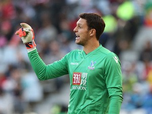 Alex McCarthy of Crystal Palace during the 2015 Cape Town Cup Final match between Crystal Palace FC and Sporting Lisbon at Cape Town Stadium on July 26, 2015
