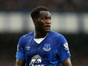 Romelu Lukaku of Everton looks on during the Barclays Premier League match between Everton and Manchester City at Goodison Park on August 23, 2015