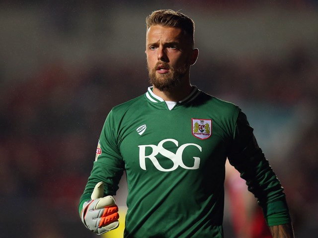 Ben Hamer of Bristol City in action during the Sky Bet Championship match between Bristol City and Leeds United at Ashton Gate on August 19, 2015