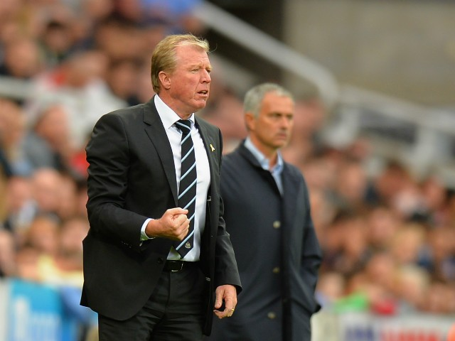 Steve McClaren manager of Newcastle United looks on during the Barclays Premier League match between Newcastle United and Chelsea at St James' Park on September 26, 2015 in Newcastle upon Tyne, United Kingdom.