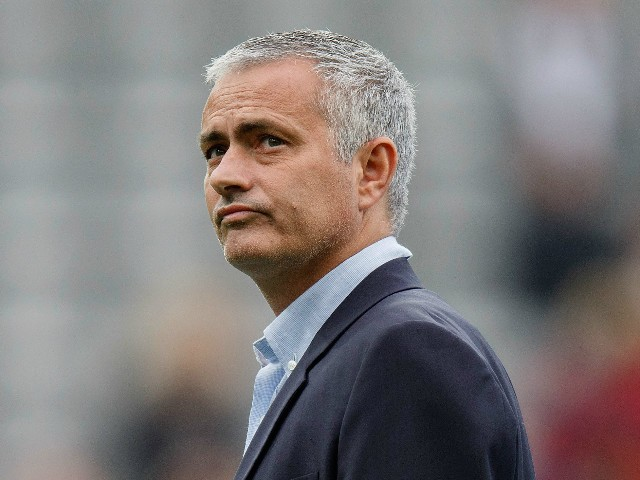 Jose Mourinho Manager of Chelsea looks on prior to the Barclays Premier League match between Newcastle United and Chelsea at St James' Park on September 26, 2015 in Newcastle upon Tyne, United Kingdom.