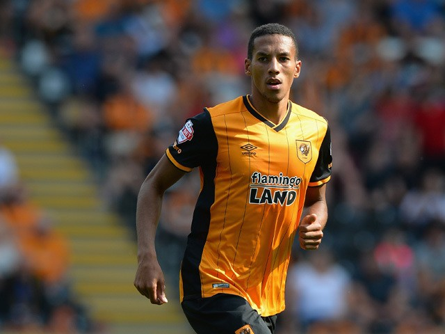 Isaac Hayden of Hull City gives the thumbs up during the Sky Bet Championship match between Hull City and Huddersfield Town at KC Stadium on August 8, 2015