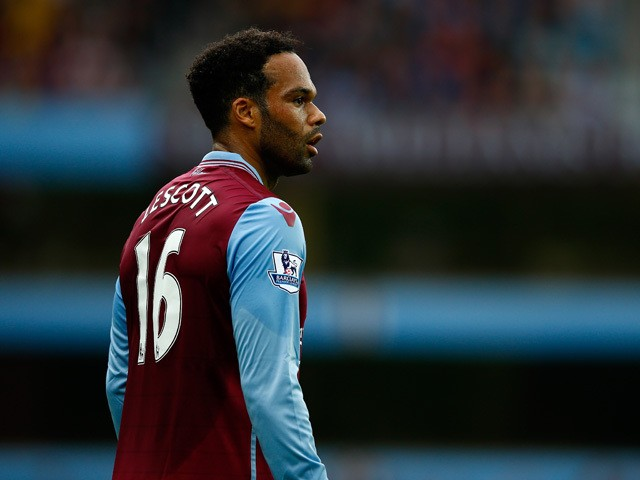 Joleon Lescott of Aston Villa in action during the Barclays Premier League match between Aston Villa and West Bromwich Albion at Villa Park on September 19, 2015