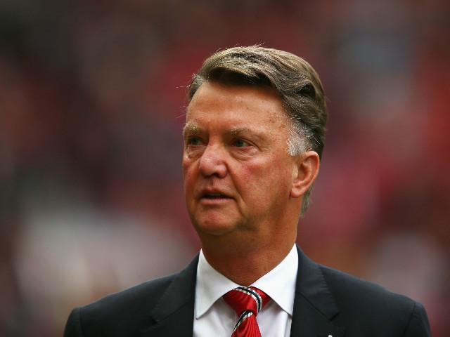 Louis van Gaal Manager of Manchester United looks on prior to the Barclays Premier League match between Manchester United and Sunderland at Old Trafford on September 26, 2015 in Manchester, United Kingdom.