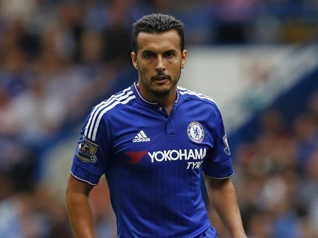 Chelsea's Spanish midfielder Pedro runs with the ball during the English Premier League football match between Chelsea and Crystal Palace at Stamford Bridge in London on August 29, 2015