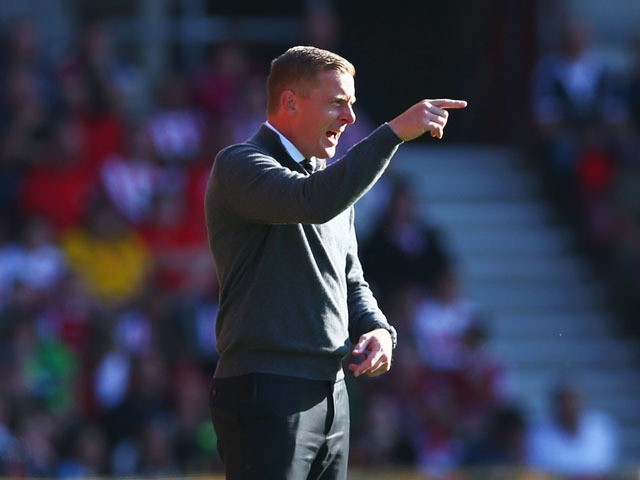 Garry Monk Manager of Swansea City gestures during the Barclays Premier League match between Southampton and Swansea City at St Mary's Stadium on September 26, 2015