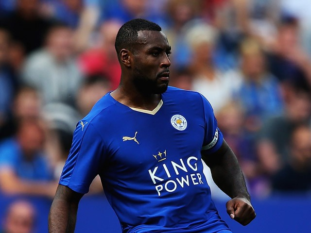 Wes Morgan of Leivcester City in action during the Barclays Premier League match between Leicester City and Sunderland at The King Power Stadium on August 8, 2015