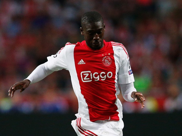 Yaya Sanogo of Ajax in action during the third qualifying round 2nd leg UEFA Champions League match between Ajax Amsterdam and SK Rapid Vienna held at Amsterdam ArenA on August 4, 2015