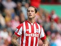 Marko Arnautovic of Stoke City during the Barclays Premier League match between Stoke City and West Bromwich Albion at Britannia Stadium on August 29, 2015