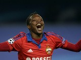 CSKA Moscow's Nigerian forward Ahmed Musa celebrates a goal during the UEFA Champions League group B football match between CSKA Moscow and PSV Eindhoven at the Khimki Arena outside Moscow on September 30, 2015