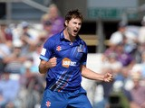 James Fuller of Gloucestershire celebrates taking the wicket of Adam Lyth of Yorkshire Vikings in action during the Royal London One-Day Cup Semi Final between Yorkshire Vikings and Gloucestershire at Headingley on September 6, 2015