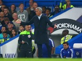 Jose Mourinho Manager of Chelsea shows his frustration after conceding the third goal to Southampton during the Barclays Premier League match between Chelsea and Southampton at Stamford Bridge on October 3, 2015 in London, United Kingdom.