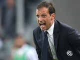 Juventus' coach Massimiliano Allegri reacts during the Italian Serie A football match Juventus Vs Bologna on October 4, 2015