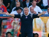 Peter Taylor, manager of Crystal Palace gestures from the sidelines during the Coca-Cola Championship match between Crystal Palace and Charlton at Selhurst Park on September 1, 2007
