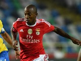 Benfica's Brazilian forward Victor Andrade during the Portuguese league football match FC Arouca vs SL Benfica at the Municipal de Arouca stadium in Aveiro on August 23, 2015