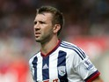 Gareth McAuley of West Bromwich Albion during the Barclays Premier League match between Stoke City and West Bromwich Albion at Britannia Stadium on August 29, 2015 in Stoke on Trent, England.