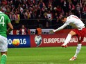 Poland's midfielder Grzegorz Krychowiak scores a goal during the Euro 2016 Group D qualifying football match between Poland and the Republic of Ireland at the Stadion Narodowy in Warsaw on October 11, 2015.