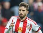 Fabio Borini of Sunderland in action during the Barclays Premier League match between Sunderland and West Ham United at the Stadium of Light on October 3, 2015 in Sunderland United Kingdom