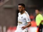 Swansea player Neil Taylor in action during the Pre season friendly match between Swansea City and Deportivo La Coruna at Liberty Stadium on August 1, 2015