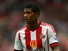 Patrick Van Aanholt of Sunderland in action during the Barclays Premier League match between Aston Villa and Sunderland at Villa Park on August 29, 2015 in Birmingham, United Kingdom.