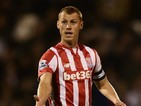 Steve Sidwell of Stoke City in action during the Capital One Cup Third Round match between Fulham and Stoke City at Craven Cottage on September 22, 2015 in London, United Kingdom.