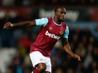 Victor Moses of West Ham United in action during the Barclays Premier League match between West Ham United and Newcastle United at Boleyn Ground on September 14, 2015 in London, United Kingdom.