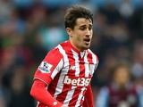 Bojan Krkic of Stoke in action during the Barclays Premier League match between Aston Villa and Stoke City at Villa Park on October 3, 2015 in Birmingham, United Kingdom.