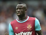 Cheikhou Kouyate of West Ham in action during the Barclays Premier League match between West Ham United and Leicester City at the Boleyn Ground on August 15, 2015 in London, United Kingdom.