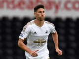 Swansea player Federico Fernandez in action during the Pre season friendly match between Swansea City and Deportivo La Coruna at Liberty Stadium on August 1, 2015