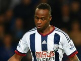 Saido Berahino of West Bromwich Albion in action during the Barclays Premier League match between West Bromwich Albion and Everton at The Hawthorns on September 28, 2015 in West Bromwich, United Kingdom.