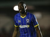 Semi Ajayi of AFC Wimbledon in action during the Sky Bet League Two match between AFC Wimbledon and Northampton Town at The Cherry Red Records Stadium on September 29, 2015 in Kingston upon Thames, England.