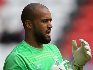 Darren Randolph of West Ham United during the pre season friendly match between Charlton Athletic and West Ham United at the Valley on July 25, 2015 in London, England.