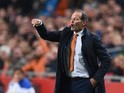 Netherlands' coach Danny Blind reacts during the Euro 2016 qualifying fooball match Netherlands vs Czech Republic at the Amsterdam Arena in Amsterdam, October 13, 2015