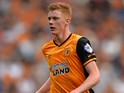 Sam Clucas of Hull City during the Sky Bet Championship match between Hull City and Huddersfield Town at KC Stadium on August 8, 2015 in Hull, England.