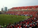 A general view of BMO Field during an MLS soccer game between the Houston Dynamo and Toronto FC at BMO Field on May 10, 2015