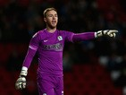 Jason Steele of Blackburn Rovers in action during the Sky Bet Championship match between Blackburn Rovers and Norwich City at Ewood Park on February 24, 2015