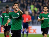 Athletic's Raul Garcia (C) celebrates his goal during the UEFA Europa League Group L football match between Partizan and Athletic Bilbao at the FK Partizan Stadium on October 22, 2015