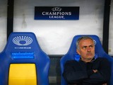 Jose Mourinho of Chelsea looks on prior to kick off during the UEFA Champions League Group G match between FC Dynamo Kyiv and Chelsea at the Olympic Stadium on October 20, 2015 in Kiev, Ukraine.