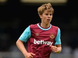 Martin Samuelsen of West Ham United during the Pre Season Friendly match between Peterborough United and West Ham United at London Road Stadium on July 11, 2015
